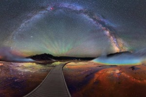 Photo: Milky Way Over Yellowstone by David Lane
